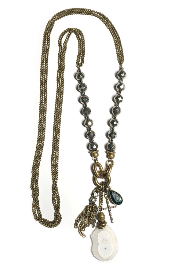 Charm Fringe Necklace