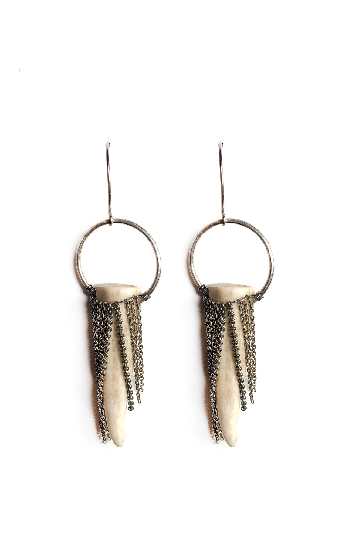 Bone Fringe Earrings