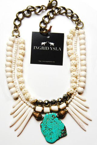 Bone Turquoise Vintage Necklace