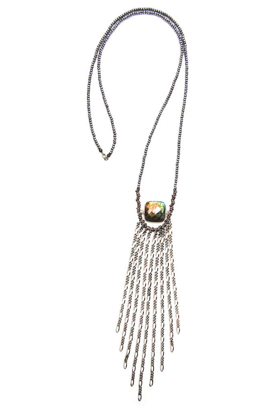 Labradorite Fringe Necklace