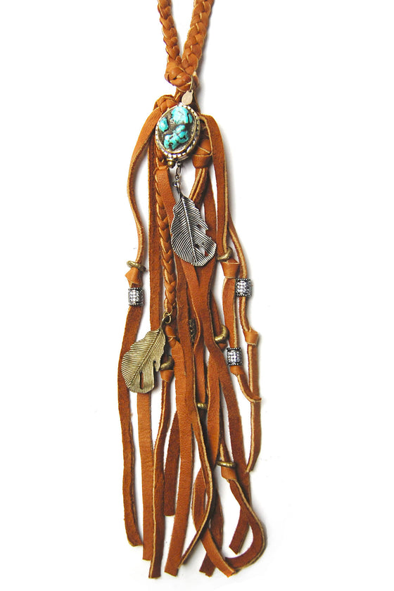 Bohemian Gypsy Leather Necklace