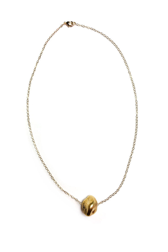 Brass Nugget Necklace