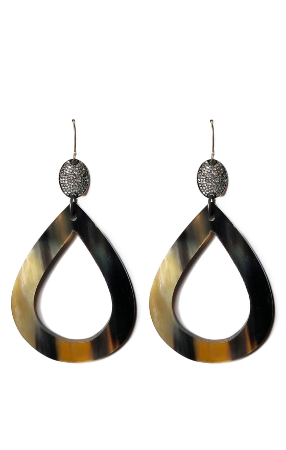 Diamond Horn Earrings