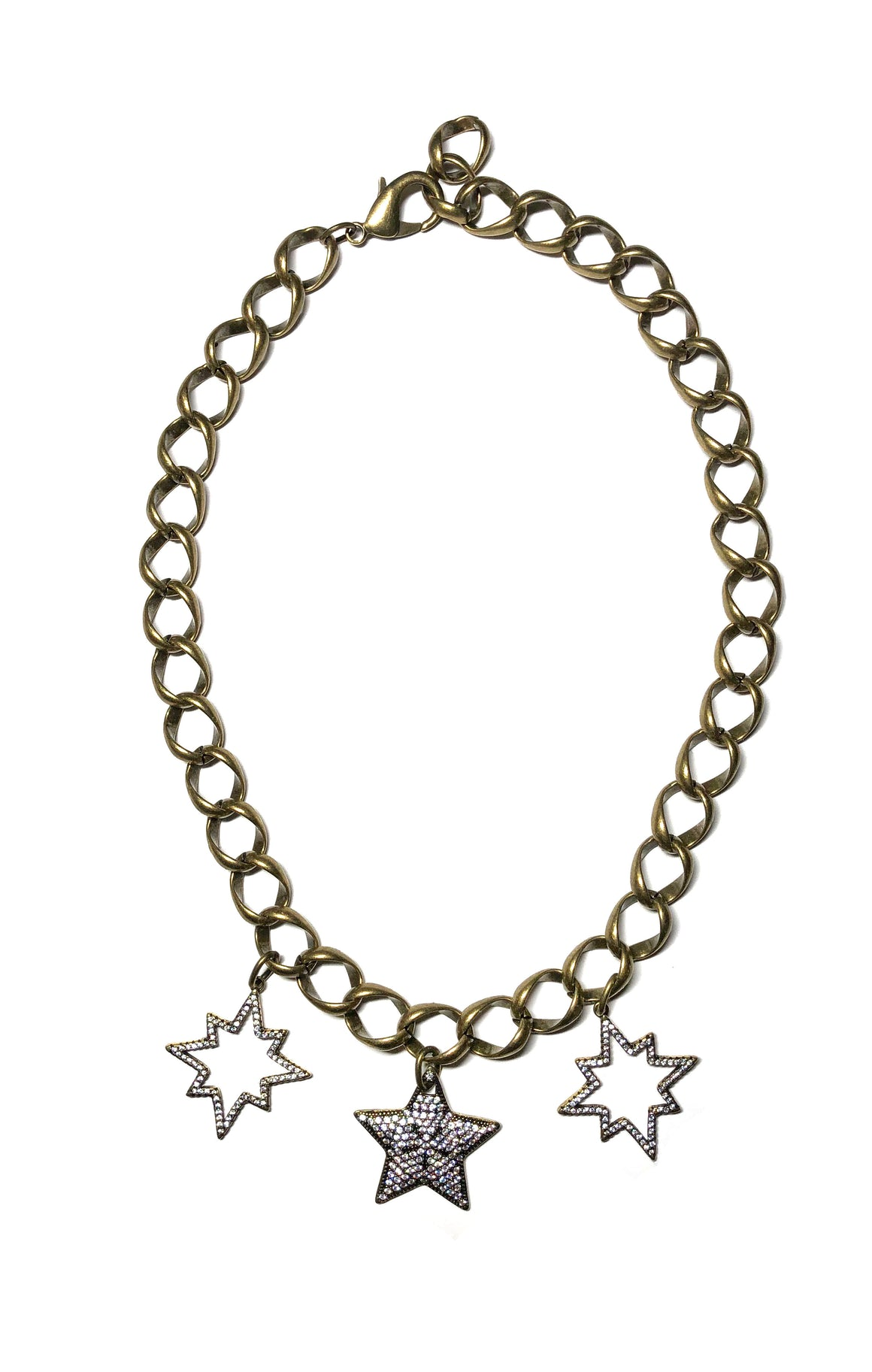 Star Punched Love Necklace