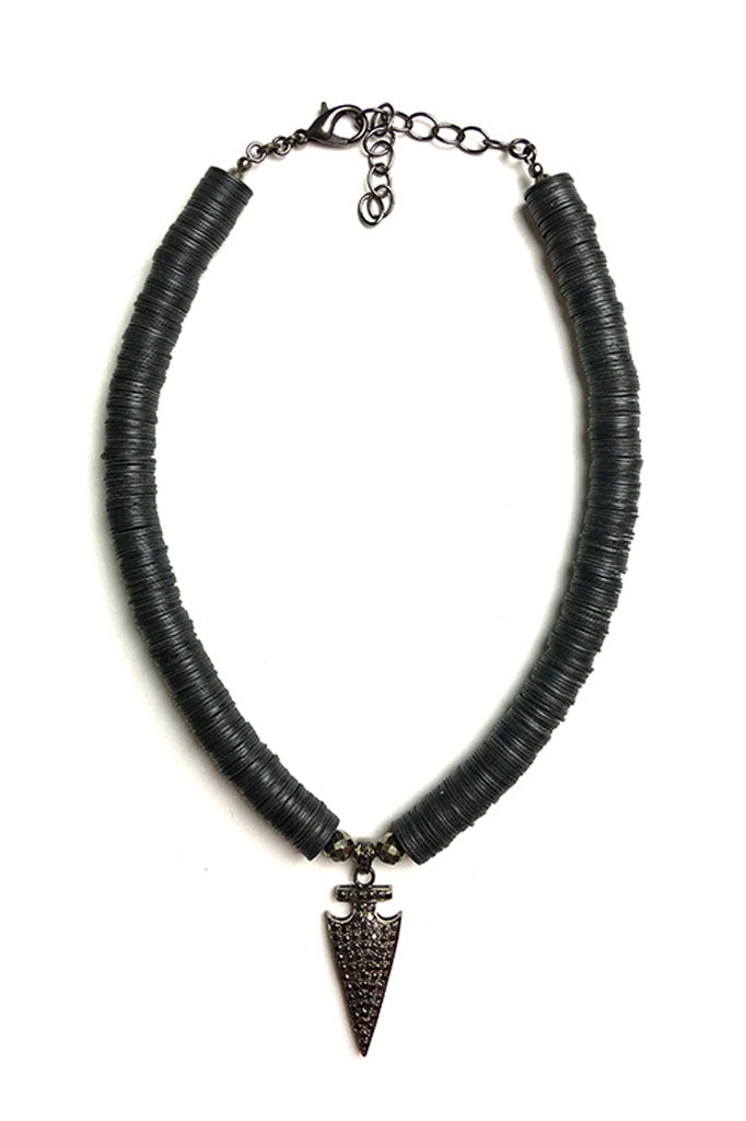 Black Diamond Arrow Necklace