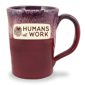 HUMANS AT WORK - ABBY 12 OZ. - CRANBERRY W/BLUE WHITE