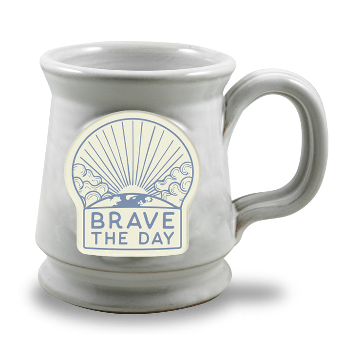 LIMITED EDITION - BRAVE THE DAY MUG - GLOSS