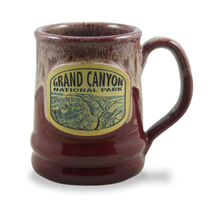 GRAND CANYON NATIONAL PARK - RAMSEY MUG 14+ OZ. BURGUNDY W/SAND WHITE
