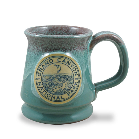 GRAND CANYON - FOOTED 12 OZ. - SEAFOAM W/ROSE WHITE