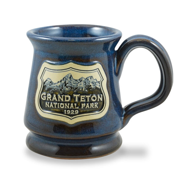 GRAND TETON - FOOTED MUG 12 OZ. DENIM