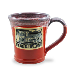 DENEEN BUILDING – JULEP MUG 10 OZ. RED W/BLACK WHITE