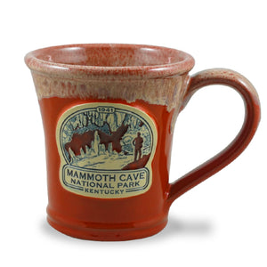 MAMMOTH CAVE - JULEP MUG 10 OZ. RED W/SAND WHITE