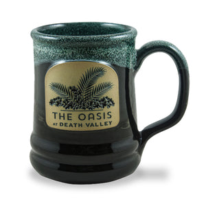 THE OASIS AT DEATH VALLEY - RAMSEY MUG 14+ OZ. BLACK W/HUNTER WHITE
