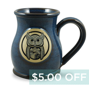 OWL MUG - TALL BELLY 14 OZ. - DENIM