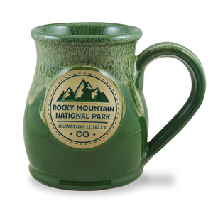 ROCKY MOUNTAIN NATIONAL PARK - TALL BELLY MUG 14+ OZ. FOREST W/DIJON WHITE