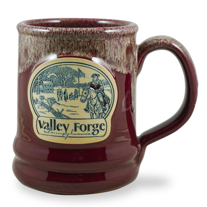 VALLEY FORGE - RAMSEY - BURGUNDY W/SAND WHITE