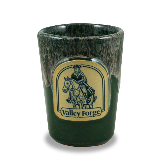 VALLEY FORGE - SHOT GLASS - HUNTER W/SAND WHITE