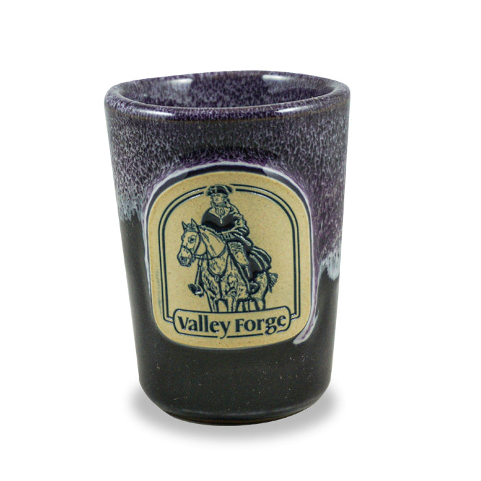 VALLEY FORGE - SHOT GLASS - PLUM W/LILAC WHITE