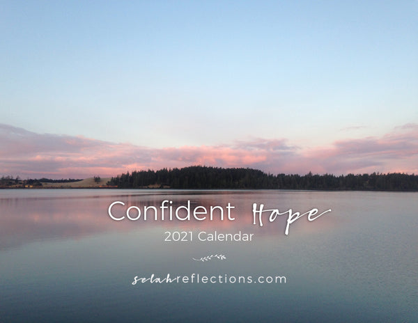 Confident Hope Bible Verse Wall Calendar for 2021