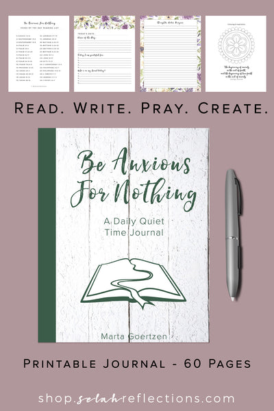Printable Anxiety Journal for Scripture Writing