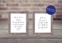 Psalm 143:8 - Scripture Verse Art -  Printable Wall Art Set  - Christian Wall Decor -  Bible Verse Art - Verse Printable - Wall Prints