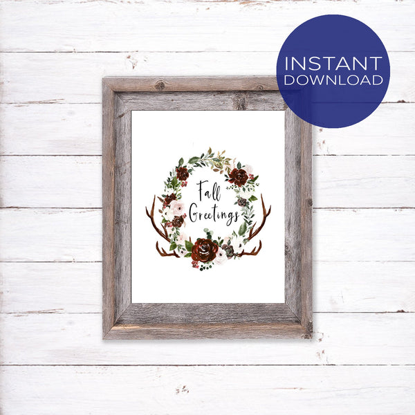 Boho Style Wall Art - Fall Greetings