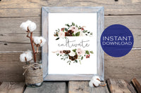 Personalized Word of the Year Printable Wall Art - Rustic Boho Style