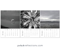 Shadow & Light Desk Calendar for 2021 - Printable Mini Calendar