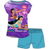 OFFICIAL OLDER GIRLS PRINCESS JASMINE SHORTIE PYJAMAS - Pretty Abode UK