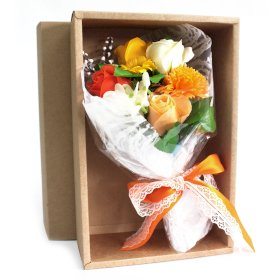 Boxed Hand Soap Flower Bouquet - Pretty Abode UK