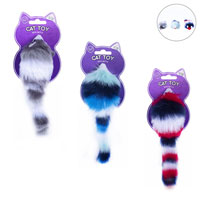 MULTI COLOURED CAT TOY WITH RATTLE - Pretty Abode UK