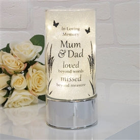 Thoughts Of You Light Tube Mum And Dad 20cm - Pretty Abode UK