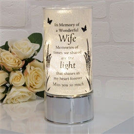 Thoughts Of You Light Tube Wife 20cm - Pretty Abode UK