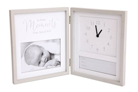 Birth Details and Clock Photo Frame 26x21cm - Pretty Abode UK