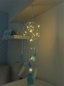 LED Blue Dreamcatcher - Colour Gift Boxed - Pretty Abode UK