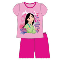 OFFICIAL GIRLS MULAN SHORTIE PYJAMAS - Pretty Abode UK