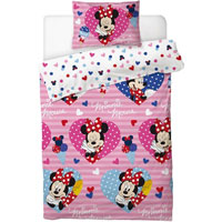 OFFICIAL MINNIE MOUSE DUVET SET LOVE HEARTS - Pretty Abode UK