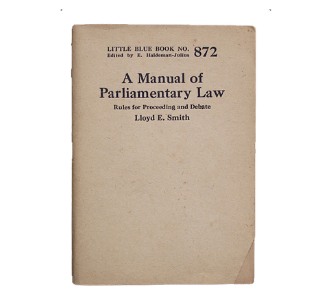 A Manual of Parliamentary Law