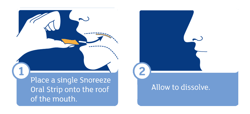 Snoreeze Oral Strips Direction