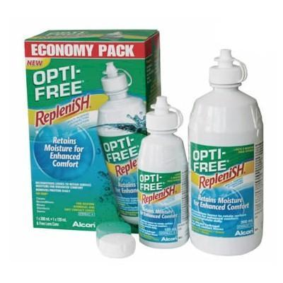 OPTI-FREE Replenish Contact Lens Solution Economy 300ml + 120ml