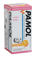 Pamol Infant Drops Colour Free Orange 60ml