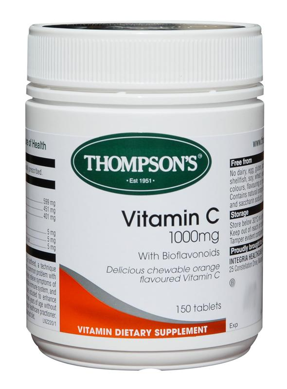 Thompson's Vitamin C 1000mg Chewable Tablets 150