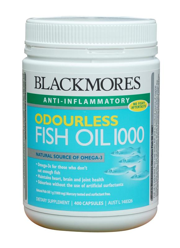 Blackmores Odourless Fish Oil 1000mg Capsules 400 - Expiry date July 2017