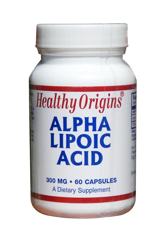 Healthy Origins Alpha Lipoic Acid Capsules 300mg 60