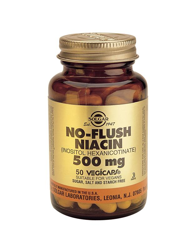 Solgar No-Flush Niacin 500mg Vegetable Capsules 50