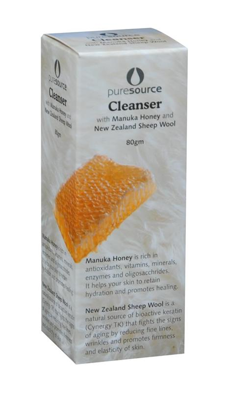 Puresource Facial Cleanser with Manuka Honey and New Zealand Sheep Wool 80g
