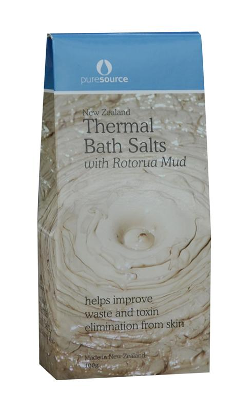 Puresource New Zealand Thermal Bath Salts with Rotorua Mud 100g