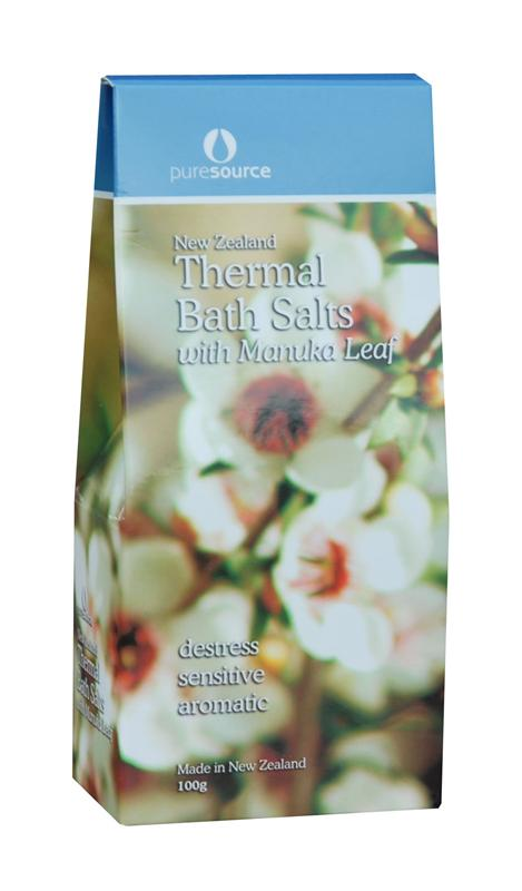 Puresource New Zealand Thermal Bath Salts with Manuka Leaf 100g