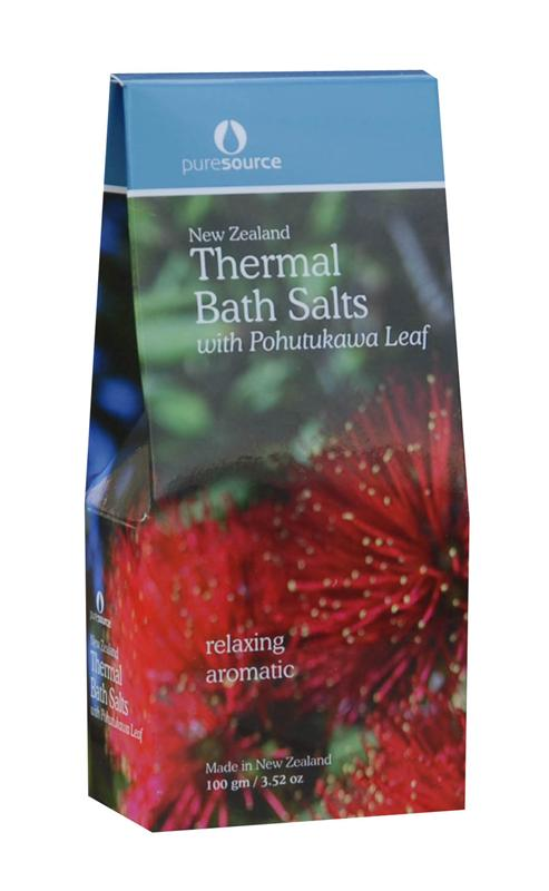 Puresource New Zealand Thermal Bath Salts with Pohutukawa Leaf 100g