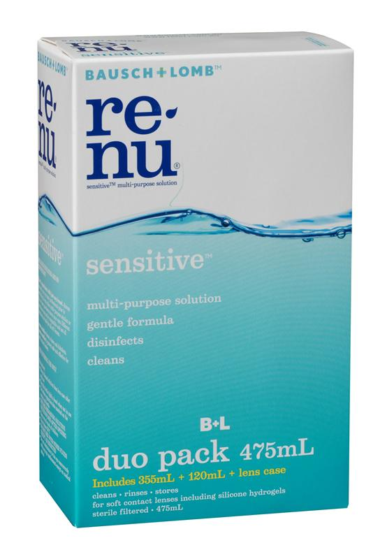 Bausch & Lomb ReNu Sensitive Multi-Purpose Solution Duo 355ml + 120ml